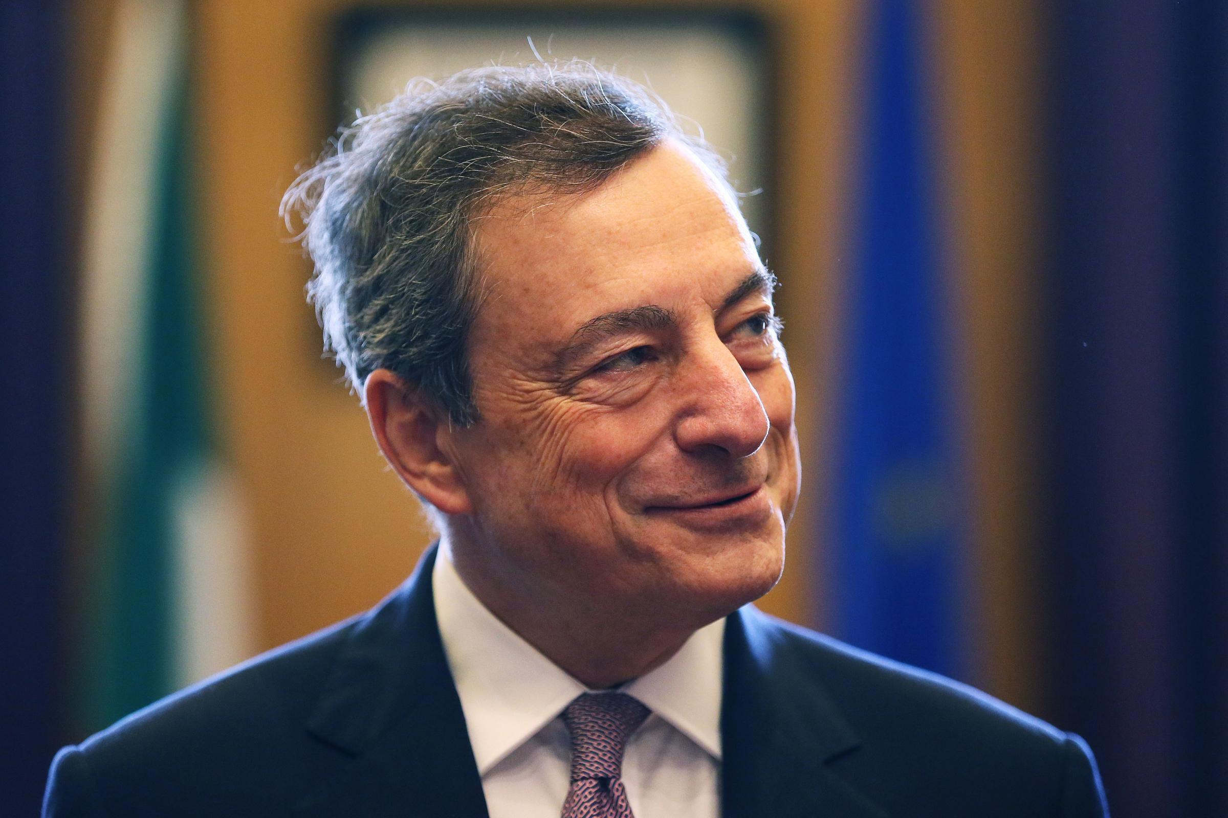 Mario Draghi ghigno